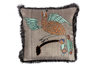 Day Bird Of Paradise pillow cover, Masala