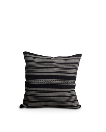 Lexington Striped Linen Cotton Sham  dark gray