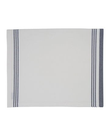 Lexington Hotel Striped Tablecloth, White/Bluegton
