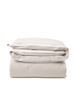 Lexington  Beige/White Contrast Cotton Chambray Duvet Cover