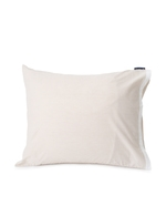 Lexington Beige/White Contrast Cotton Chambray pillow