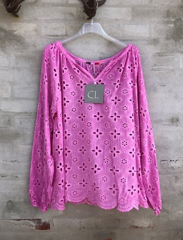 Cabana Living Flower Blouse pink