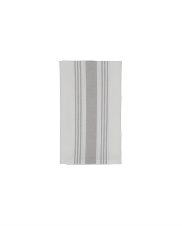 Lexington Hotel Striped Napkin, White/Gray